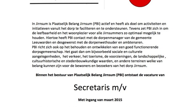 2015 januari vacature secretaris pbi kopie