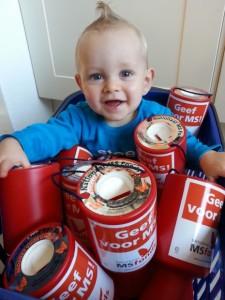 Tycho, de zoon van een collecte-coördinator in Gelderland krijgt het collecteren met de paplepel ingegoten.